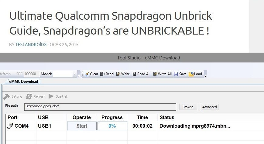 Unbrick All Qualcomm Snapdragon's from Qualcomm HS-USB