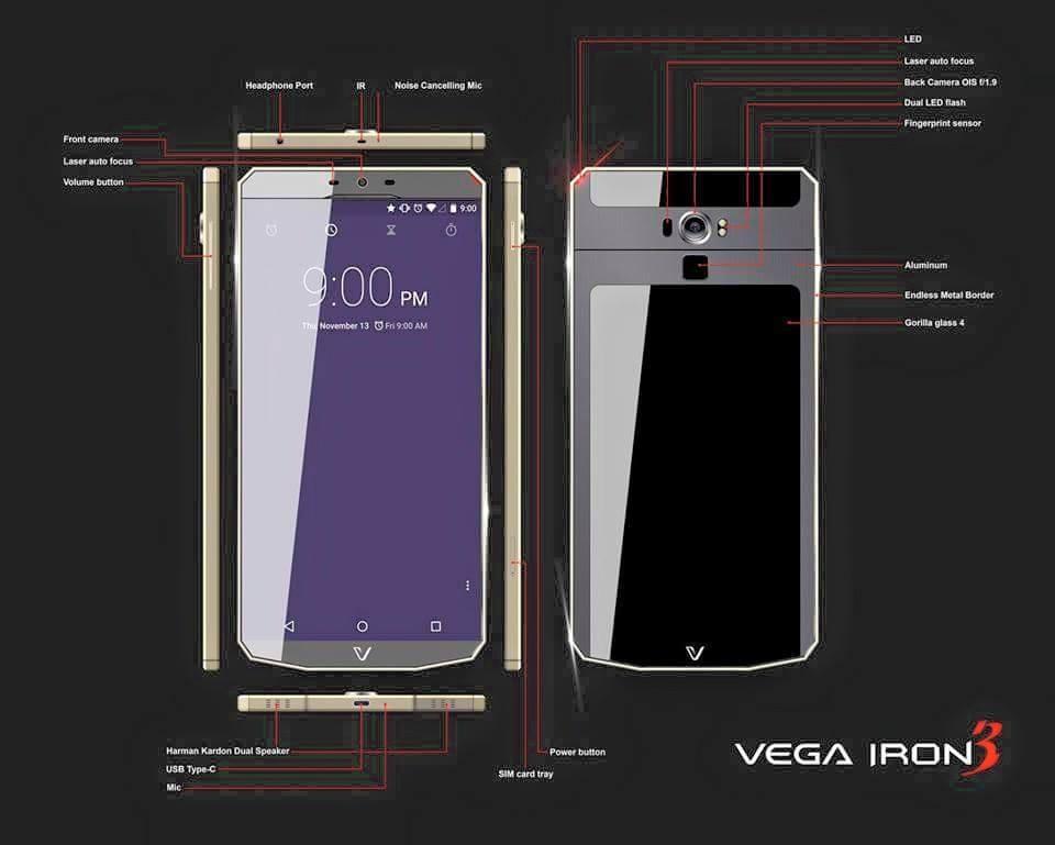 Pantech Vega Iron 3 Specs