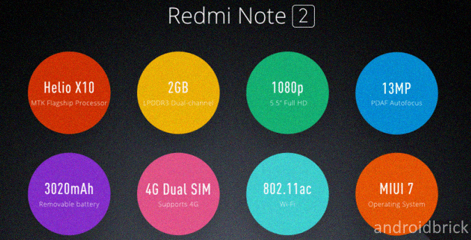 redmi note 2 specifications