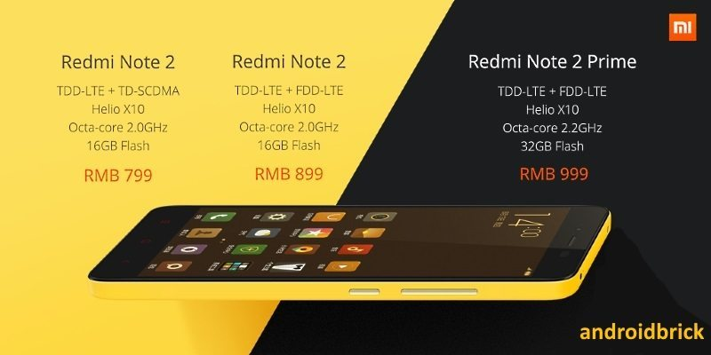 Xiaomi Redmi Note 2 price