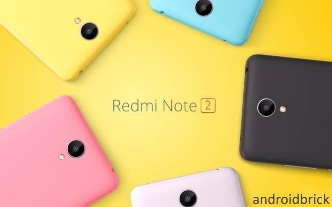 Xiaomi redmi note 2 colors