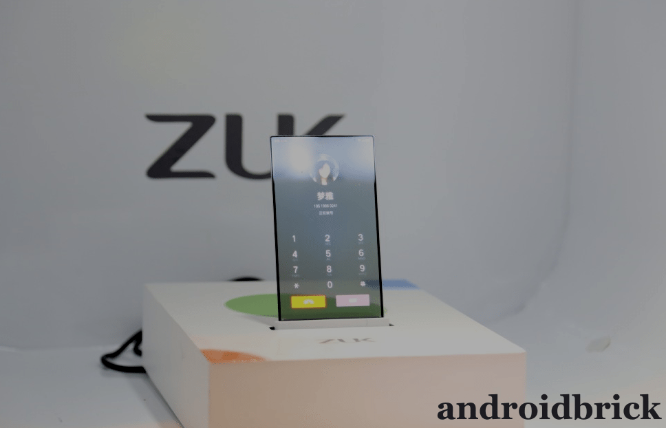zuk transparan screen phone call