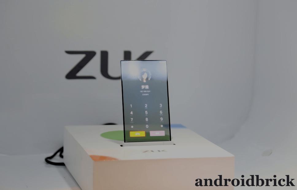 zuk transparan screen phone call